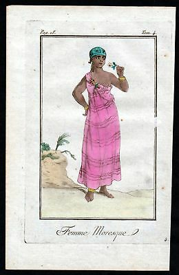 1780 - Moresque Türkei Turkey costume Kupferstich Tracht antique print