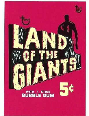 2018 Topps 80Th Anniversary Wrapper Art Cards..card #54 Land Of The Giants 1968