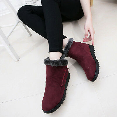 Middle-Aged Women Shoes Casual  Warm  Snow  Cotton Boots  Winter Cotton Shoes D