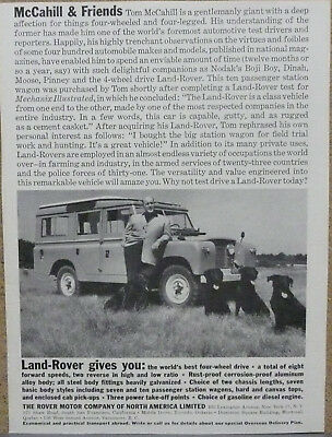 1961 1962 Land Rover Ad Lot (2) Print Ads