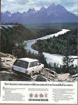 "1989 Range Rover Ad ""Few luxury cars..."" Road & Track Article"