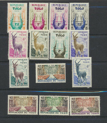 TOGO (French)1959 Pictorial Complete Mint NH Set of 14 Stamps #350 - 363 Animals