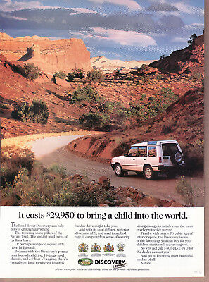 "1996 Land Rover Ad ""It costs $29,950..."" Print Ad"