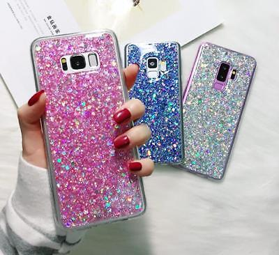 For Samsung Galaxy S9/S8/Plus Bling Glitter Shockproof TPU Silicone Case Cover