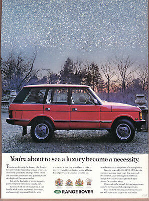 "1989 Range Rover Ad ""You are about to see..."" Print Ad"