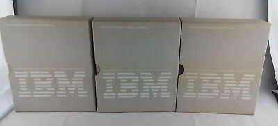 3 IBM Personal Computer Software Library Binders With Sleeves