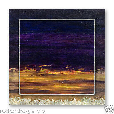 Metal Wall Art Decor Sculpture Abstract Purple Sunset by Angelika Mehrens