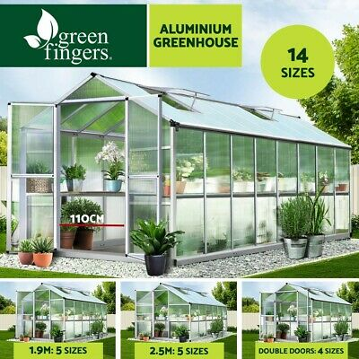 Greenfingers Greenhouse Aluminium Green House Garden Shed Storage Polycarbonate