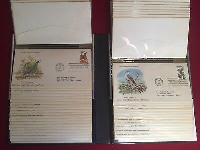 US Scott 1953-02 States Birds & Flowers 50 cacheted in FDCs Beautiful binder