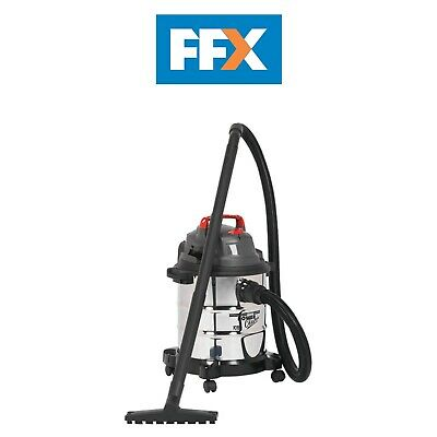 Sealey PC195SD 20ltr Wet & Dry Vacuum Cleaner 1250W Stainless Bin