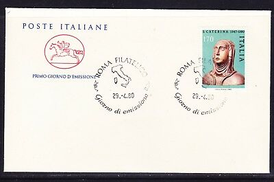 "Italy 1980 St Catherine of Sienna  ""Official"" First Day Cover Unaddressed"