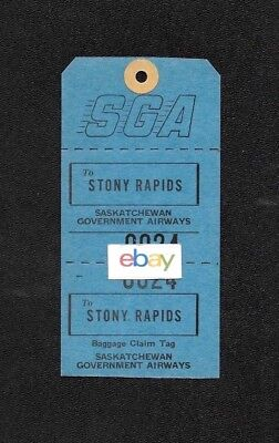 S.g.a.saskatchewan Government Airways Canada Stony Rapids Luggage Tag