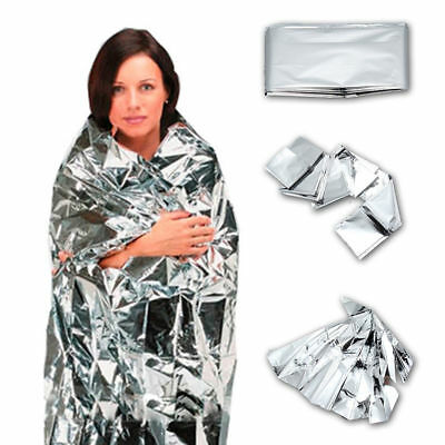 10 x Foil Thermal Emergency Blanket First Aid Survival Rescue Waterproof Hiking