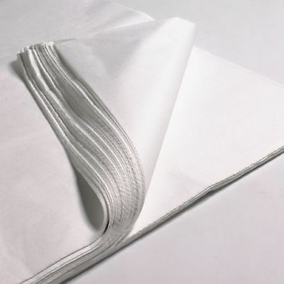 100x SHEETS OF WHITE ACID FREE TISSUE WRAPPING PAPER SIZE 450 X 700MM 18 X 28""