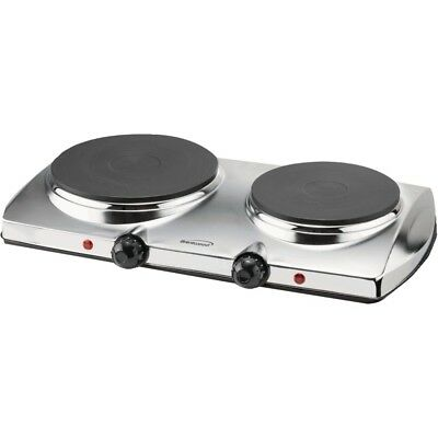 Brentwood 1,440-Watt Electric Double Hot Plate-Auto Shutoff-Easy Clean