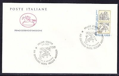 "Italy 1997  - 1000 Lira St Ambrose  ""Official"" First Day Cover"