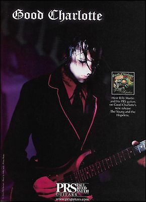Billy Martin (Good Charlotte) 2003 The Young & The Hopeless PRS guitar 8 x 11 ad
