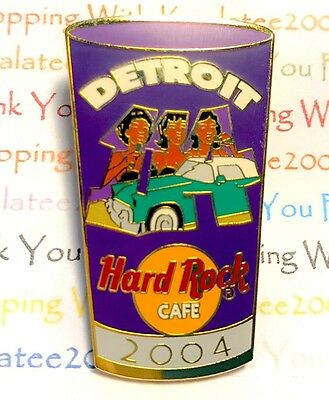 Hard Rock Cafe Detroit Number Pint Glass Series 2004 Pin HRC LE NEW Pin# 24735