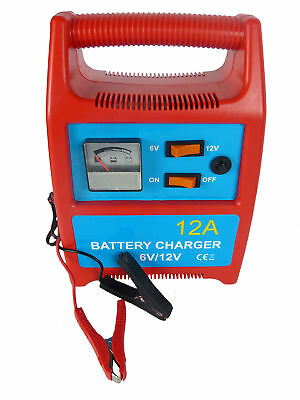 Hyfive - Battery Charger 12A - Portable & Heavy Duty - For Car, Van & Boat