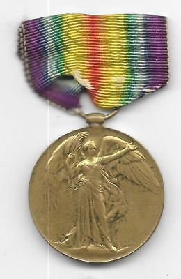 British World War I Victory Medal To 36134. Pte J. Phillips R.is. Rif- (Fm 213)