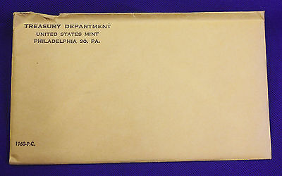 1960 U.S. PROOF Set.  The Coins are U.S. Mint Sealed in a flat cello.