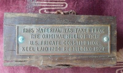 Original Block Of Wood From Uss Constitution Old Ironsides 1927 Rebuilding