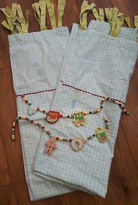 Mamas and Papas Curtains / Blackout Lining / Tie Backs from Gingerbread Range