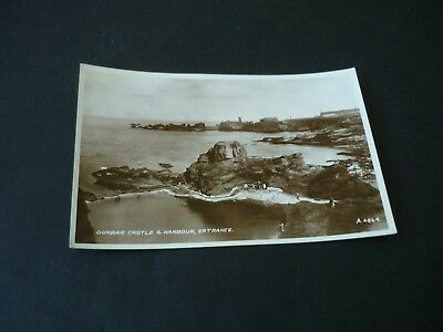 Dunbar Castle & Harbour, Entrance, Real Photographic postcard