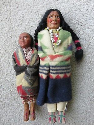 Two Wonderful Mint Condition Skookum Indian Dolls