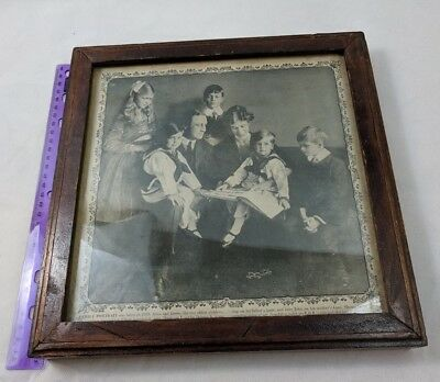 FDR PRESIDENT ROOSEVELT FAMILY PORTRAIT Vintage Wood Framed Newspaper Cutting