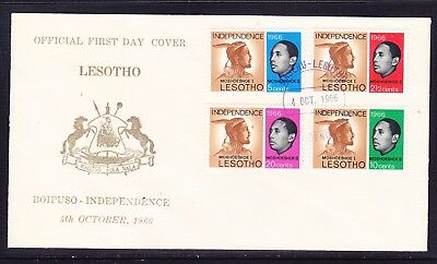 Lesotho 1966 Independence First Day Cover  #1