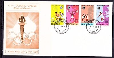Lesotho 1976 Olympics Montreal  First Day Cover