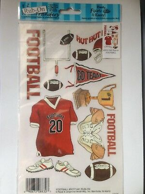 New -  Rub On Transfers By Royal & Langnickel - Football  - Scrapbooking