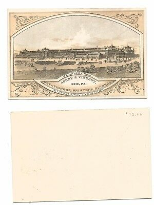 1876 International Expo Advertising Card Machinery Hall - Ashby & Vincent   #26