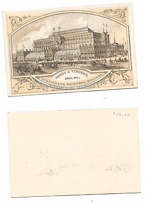 1876 International Expo Advertising Card Horticulture Hall - Ashby & Vincent #27