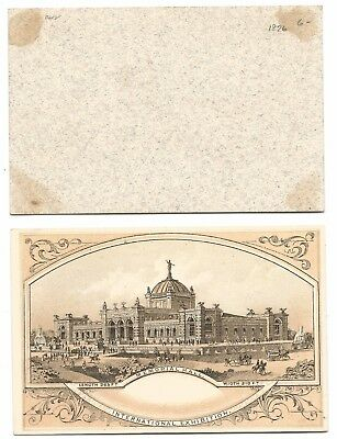1876 International Expo Advertising Card Memorial Hall   #19