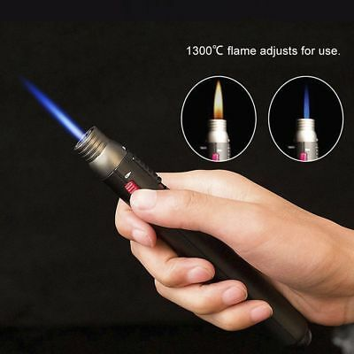 1300℃ Welding Soldering Pen Torch Butane Gas Fue Jet flame Refillable Lighter