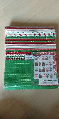 Moda Red dot green dash KIT22300 quiltset me and my sicher design neu