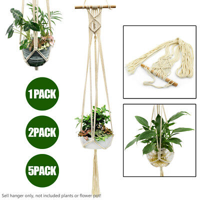 Pot Holder Macrame Plant Hanger Jute Rope Braided Craft Planter Hanging Basket