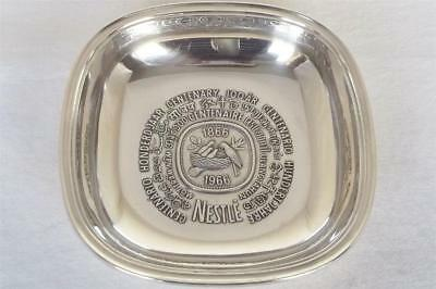 A Superb Solid Sterling Silver Commemorative Nestle Dish By Jezler Switzerland.