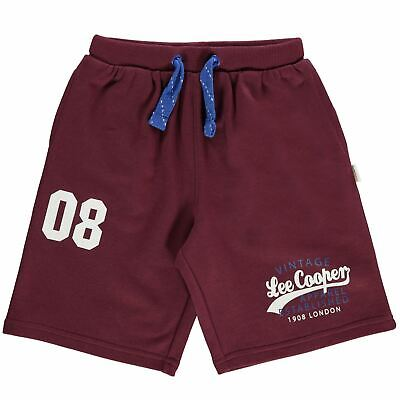 Lee Cooper Kids Boys Fleece Shorts Junior Pants Trousers Bottoms Print Jersey