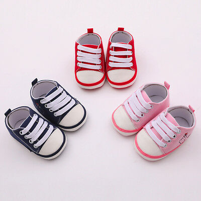 Toddler Kid Girls Boys Baby Canvas Shoes Heart Print Soft Sole Sandals Sneakers
