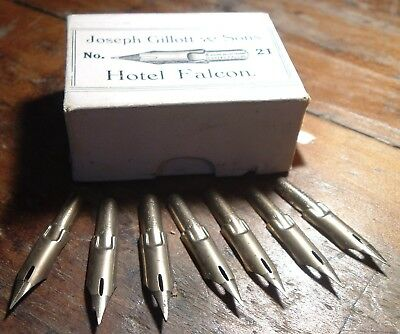 Antique pen Nibs Original Box Joseph Gillott Hotel Falcon