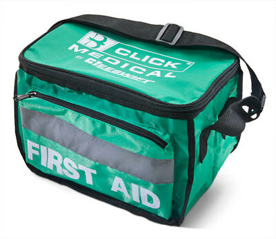 Click Medical Empty Green Heavy Duty First Aid Kit Bag Waterproof Paramedic New