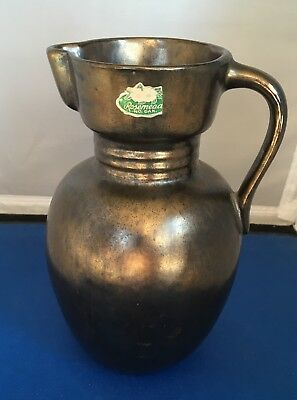 "Rosemeade North Dakota Pottery Pitcher 7 1/4"" Tall"