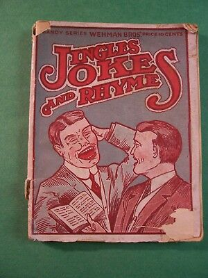 Miscellaneus Ephemera-- Jingle Jokes And Rhymes Booklet