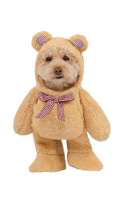 Rubies Walking Teddy Bear Fancy Dress Costume Outfit Dog Pet Animal Xs To XL