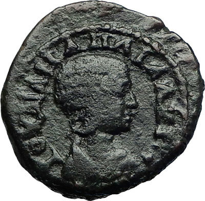 JULIA MAMAEA Authentic Ancient 222AD Nicaea Bithynia Roman Coin STANDARDS i71068