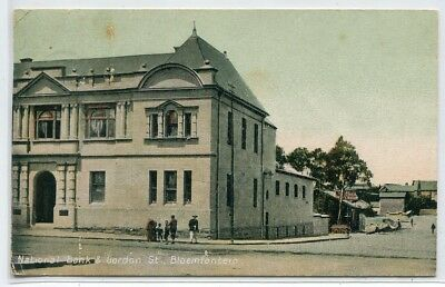 National Bank London Street Bloemfontein Free State South Africa 1908c postcard