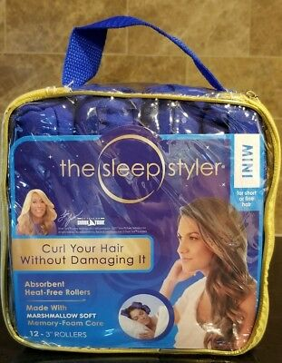 """The Sleep Styler Mini SET OF 12 - 3"""" ROLLERS For Short Or Fine Hair"""